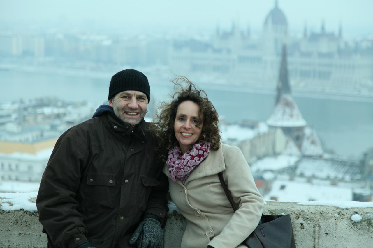 François en Olga in Boedapest, jan. 2014. We gaan de Lenbach ophalen!
