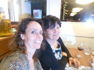 Met Elfi Gabrieli in Utrecht, voor mijn boekpresentatie.