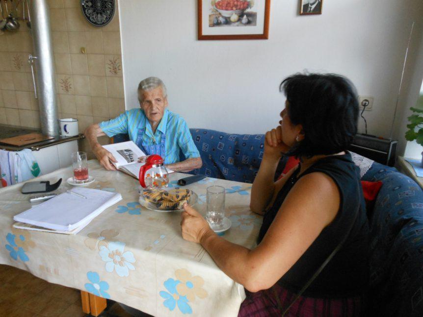 Met Elfi Gabrieli bij mw Holzner Rungger