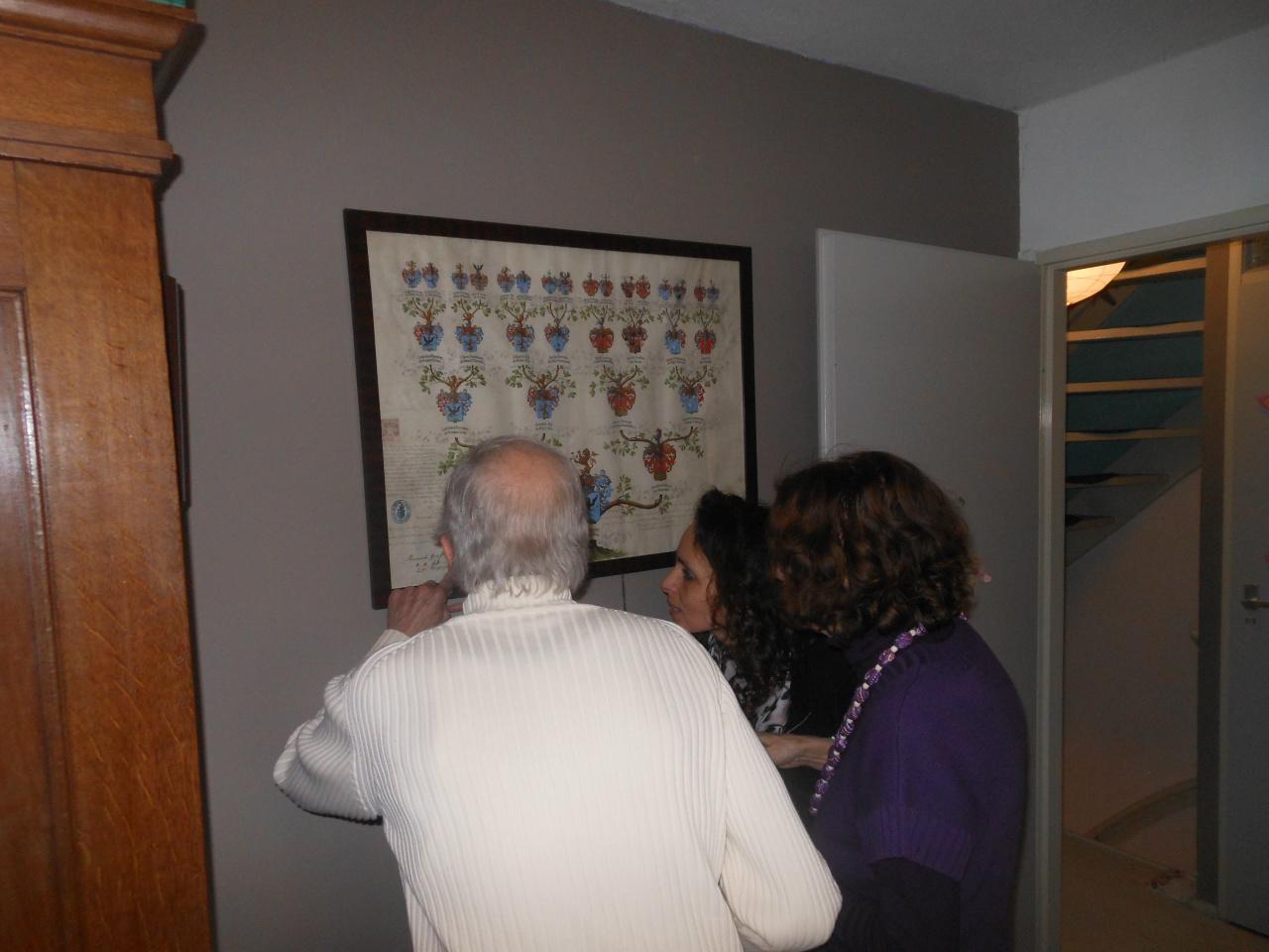 Met Orsi en Miki bij ons in IJsselstein. We bestuderen de Eperjesy- stamboom.
