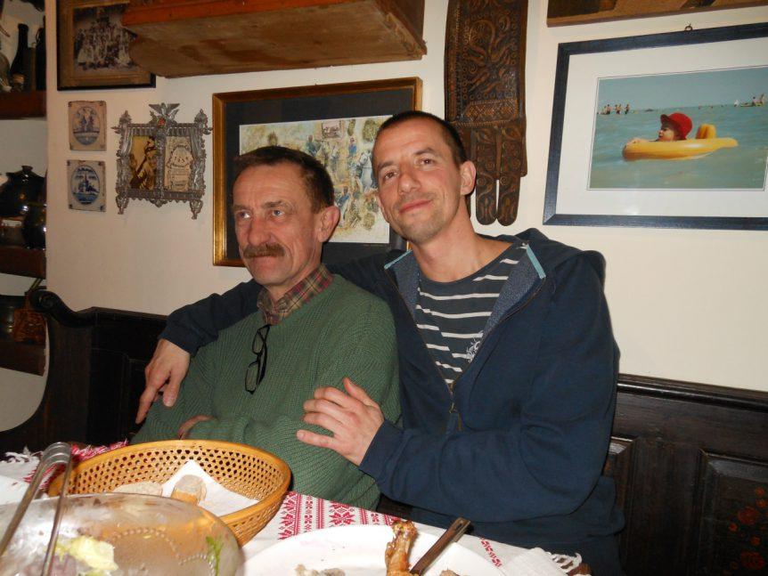 Péter Ényyvári met zijn neefje Martón (Marci) Miklauzic.