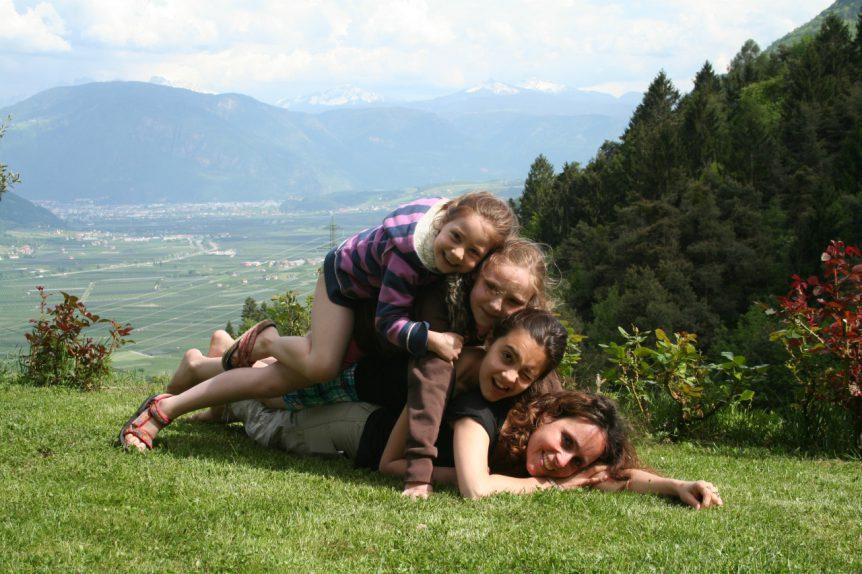 met gezin bij Wehrburg, mei 2012